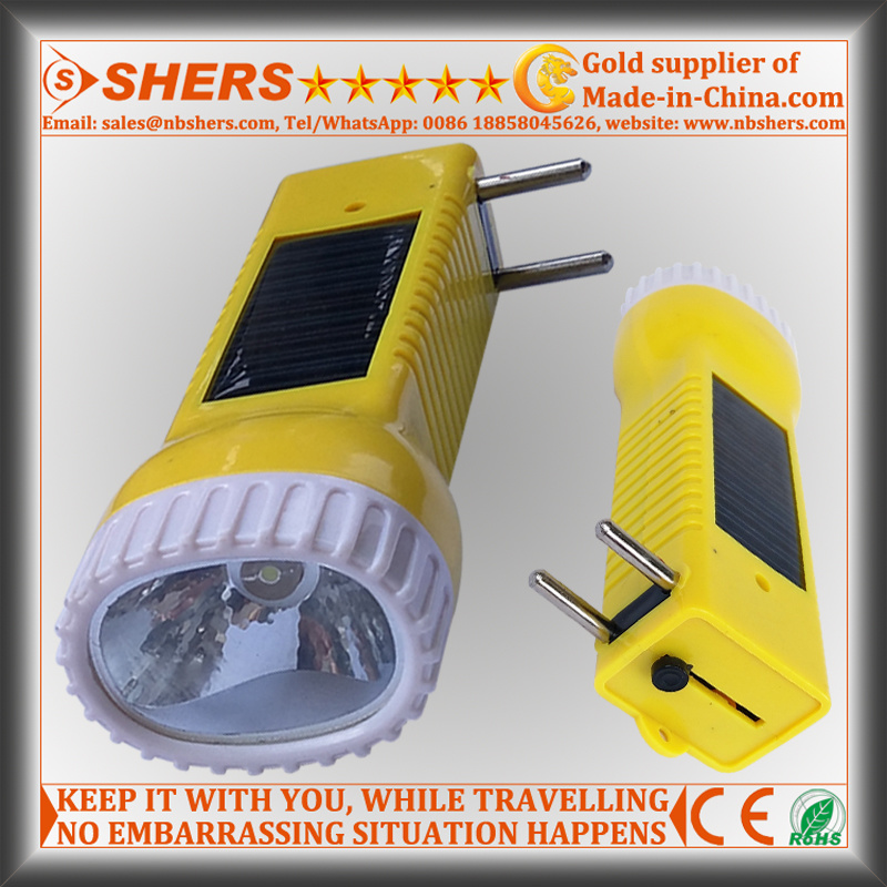 Solar Rechargeable 1W LED Torch for Searching, Hunting (SH-1934)