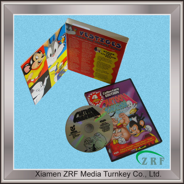 DVD Replication in Disk Tray with Slipcase Packaging Service