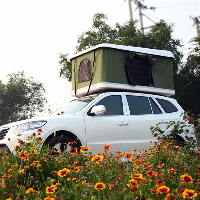 SUV Camping Tent Fiberglass Camping Hard Shell Car Roof Top Tent