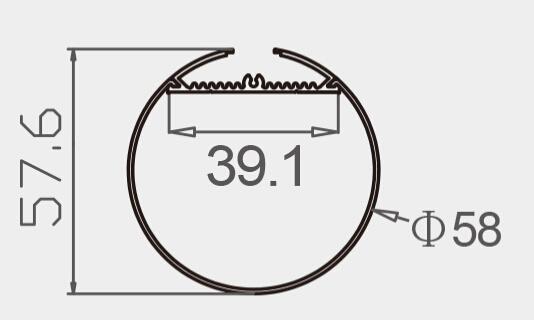 1500mm Hanging Pendant Suspended Aluminum Profile LED Linear Light Tube (6060)