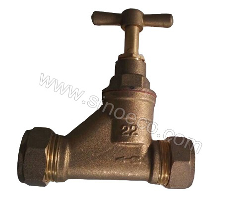 Brass Female Eqaul Stop Valve Stop Tap with Butterfly Handle