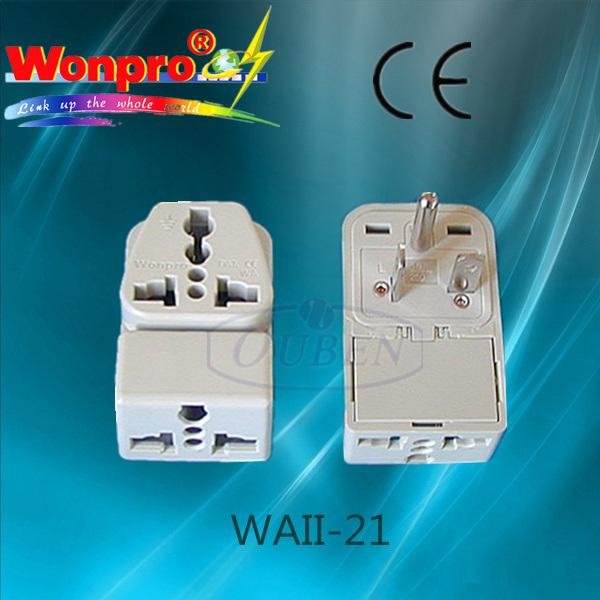 Universal Travel Adaptor WAII-21 (Socket, Plug)