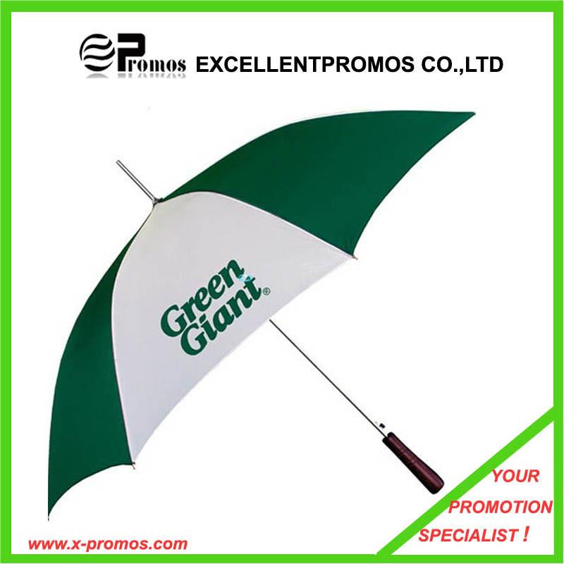 Promotional Logo Printed Wood Handle Custom Umbrella (EP-U6232)