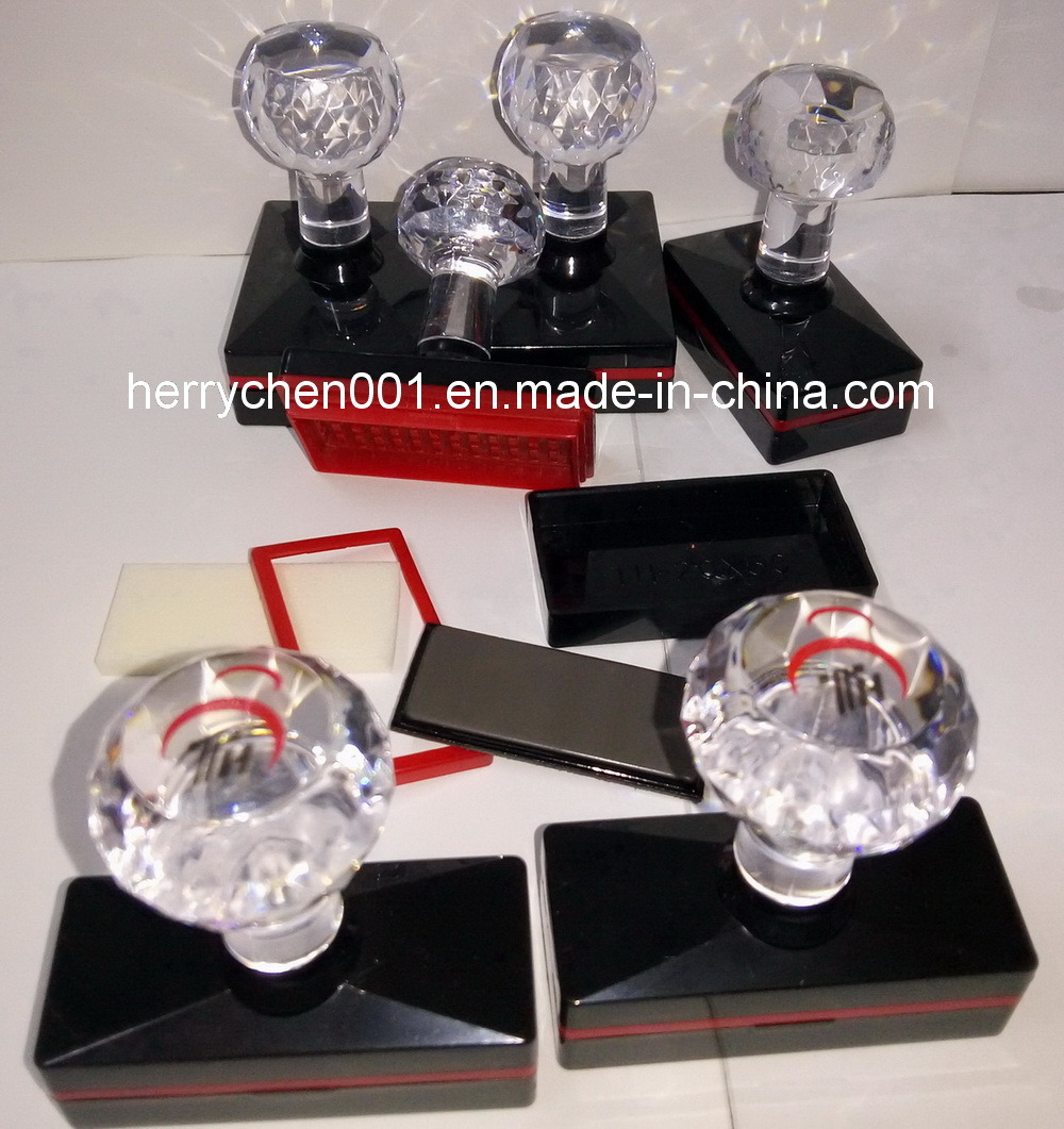 Th Series Crystal Handle Flash Stamp with 4mm Flash Rubber