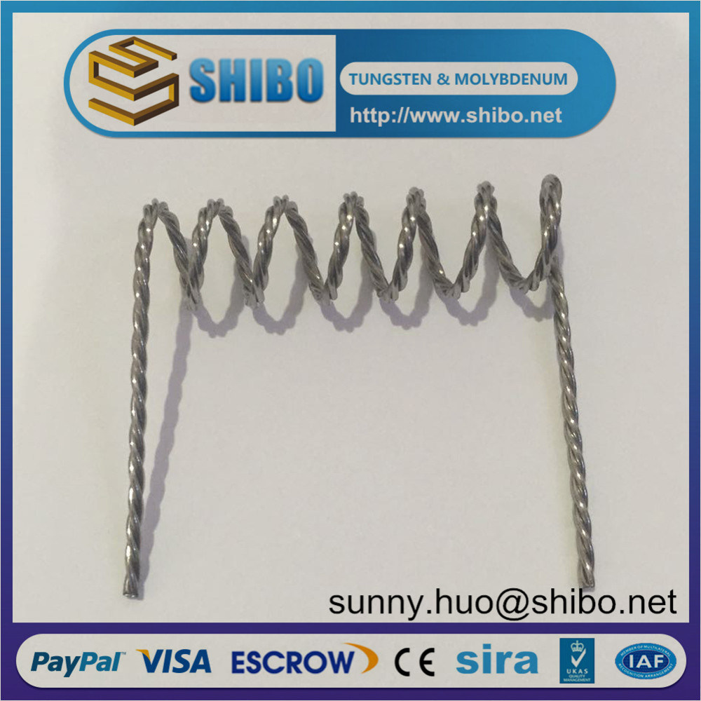 Hot Sale Twisted Tungsten Strand Wire, Tungsten Screw for Vacuum Metalizing