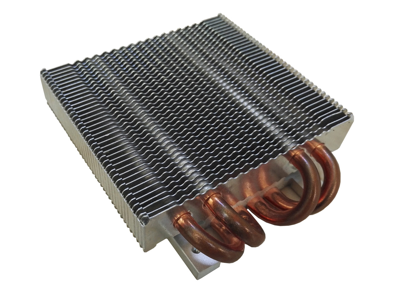 LED Heat Sink with Copper Sintered Heat Pipes