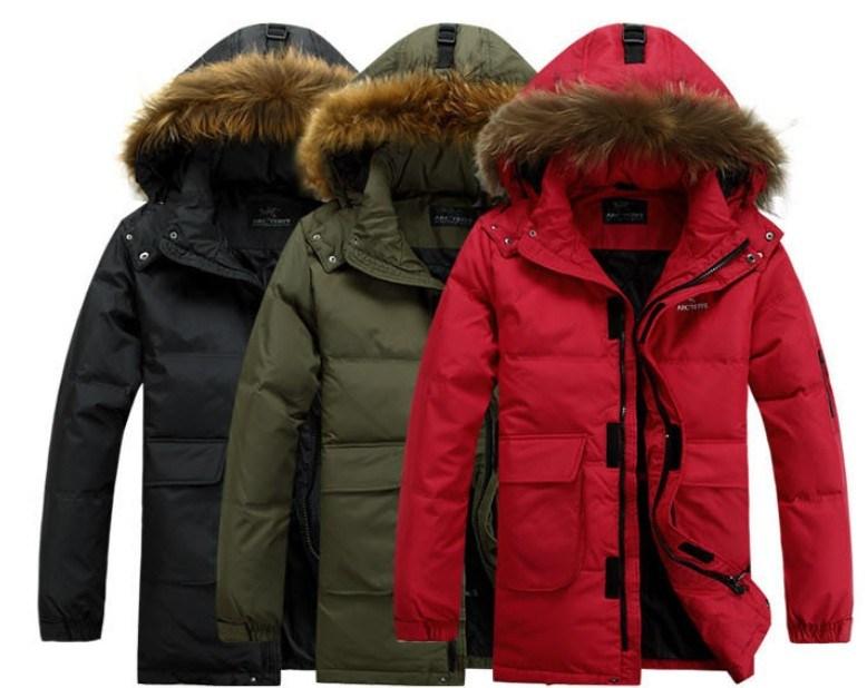 Mens Sofshell Padding Hoddy Jacket with Fur (SY-M18)