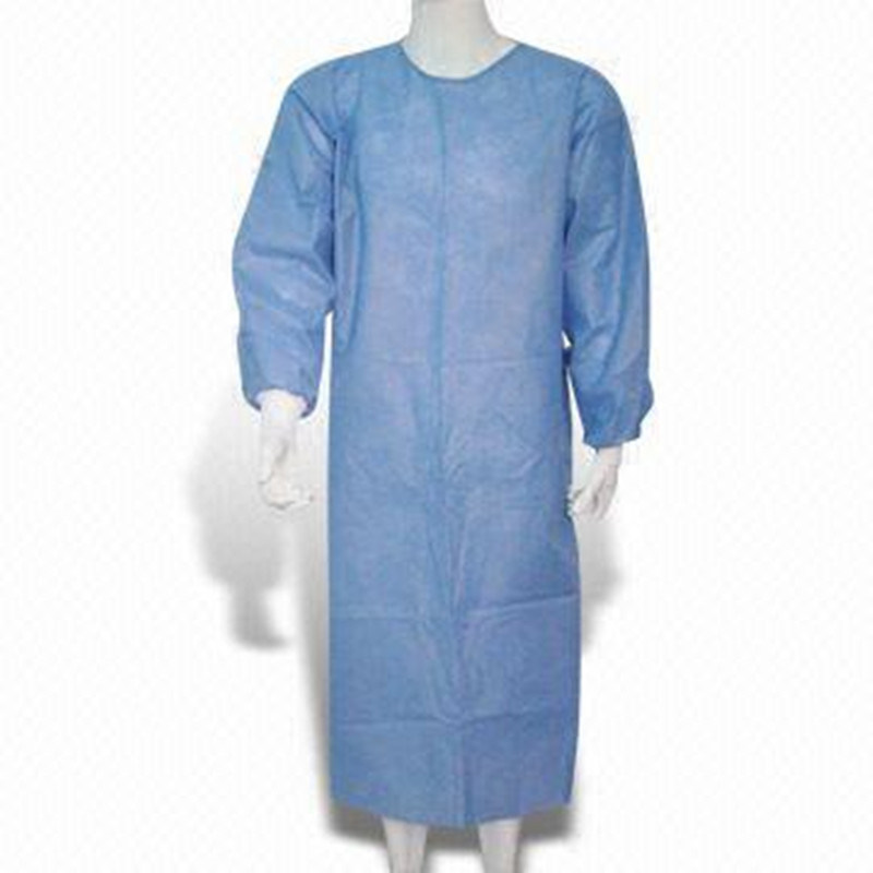 Disposable Non-Woven Surgical Gown with Elastic / Knitted Cuff