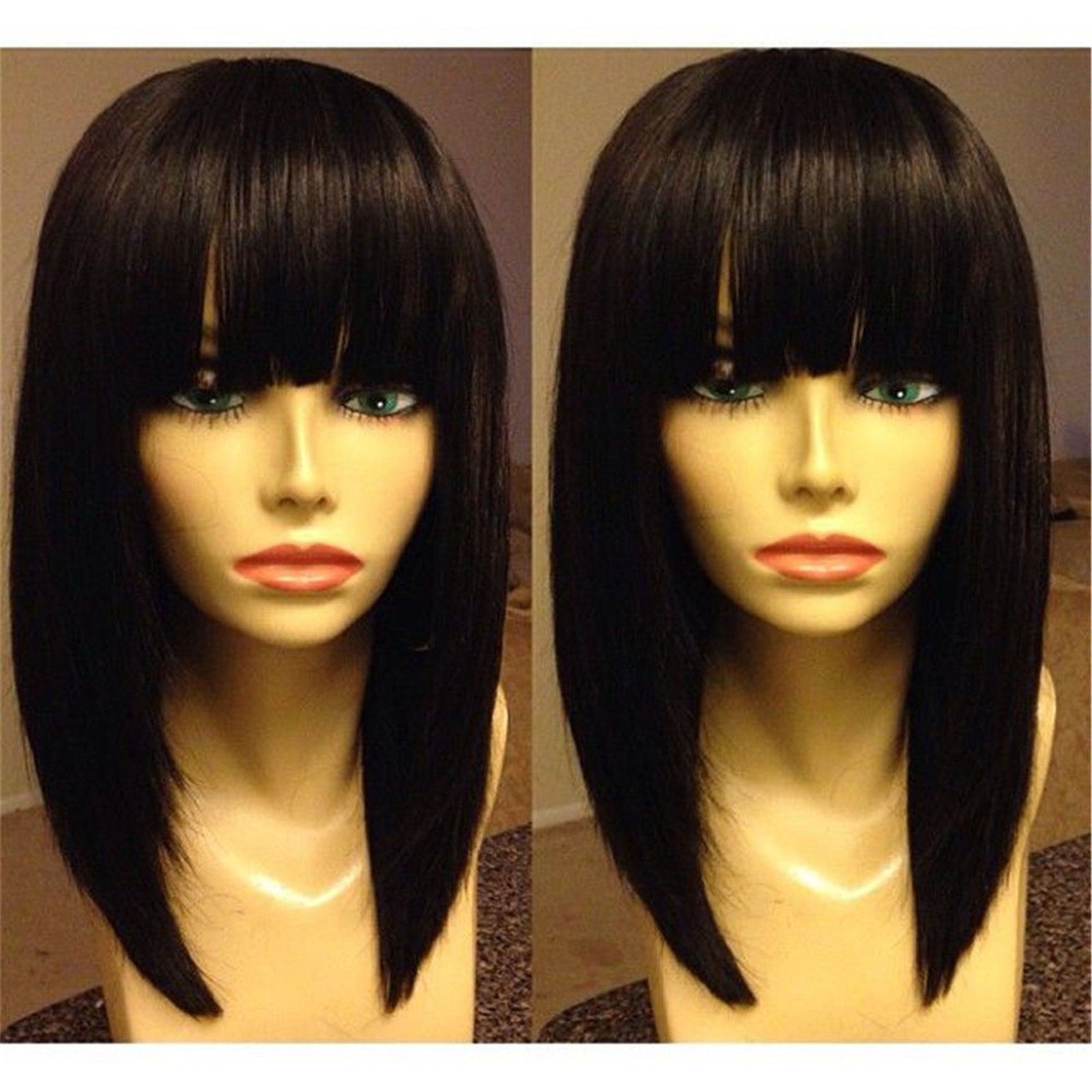 Fashion Virgin Brazilian Human Hair Bob Glueless Full Lace Wig
