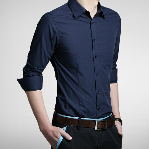 Men′s Formal Fashion Long Sleeve Dress Shirt