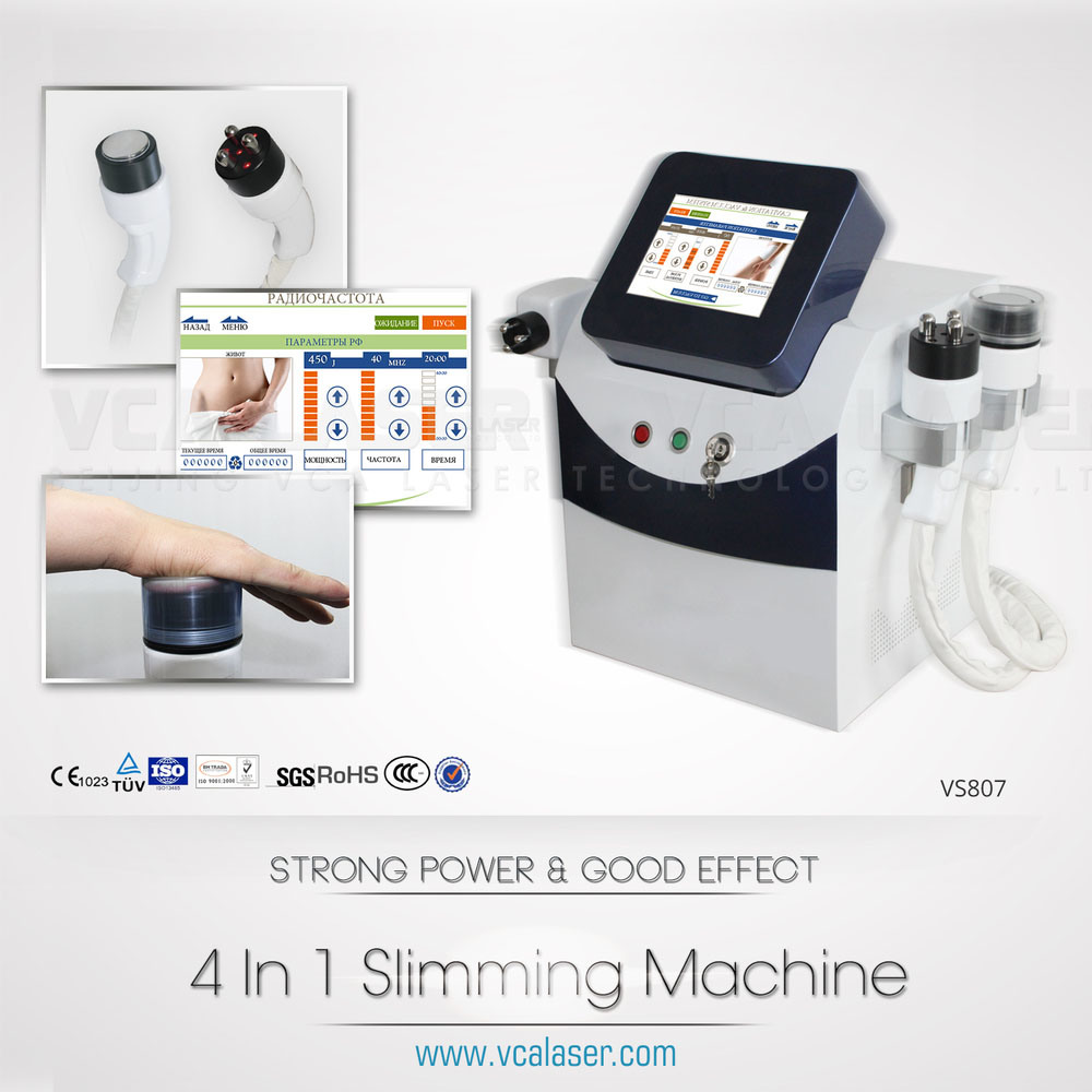 40kHz Cavitation RF Vacuum Multifunctional Slimming Machine, Ultrasound Cellulite Reduction Weight Loss Machine, Super Liposuction Beauty Salon Equipment