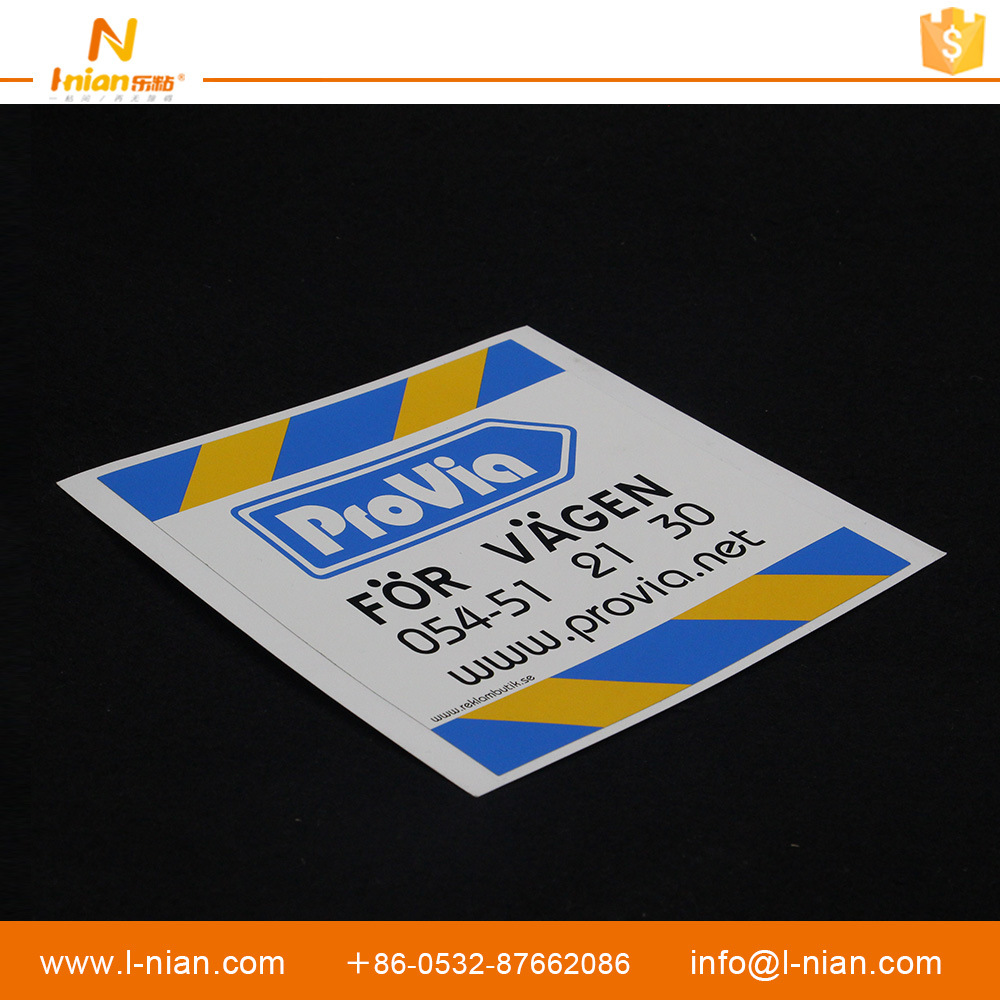 Company Brand Advertising Waterproof Custom Label Sticker