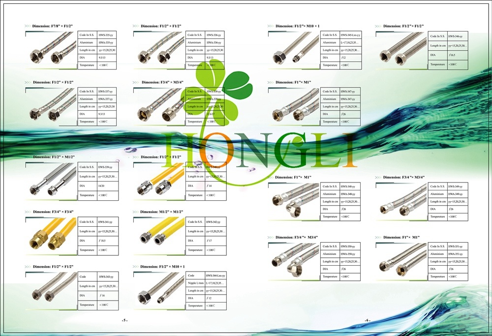 Page 5/6 Wire Braided Stainless Steel Shower Hose
