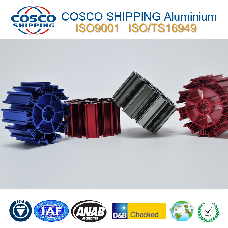 Competitive Aluminum Profile Extrusion for Heatsink with Clear Anodizing&CNC Machining