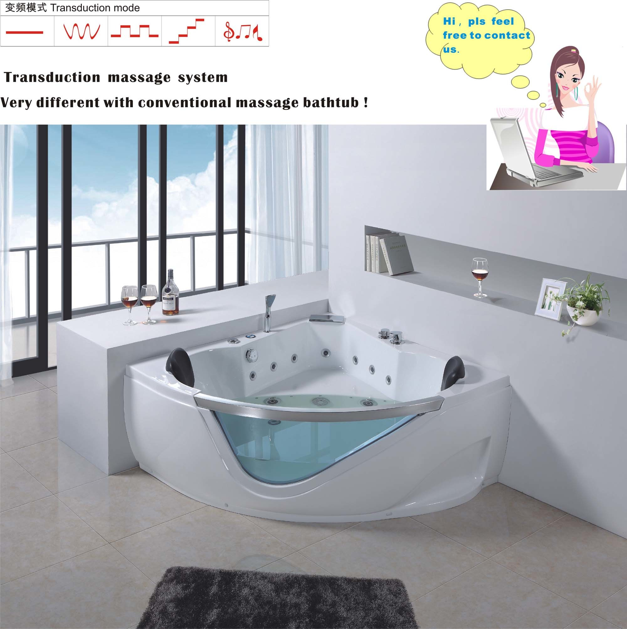 free person shipping whirlpool tub overstock product today garden ariel bathtub home arl two