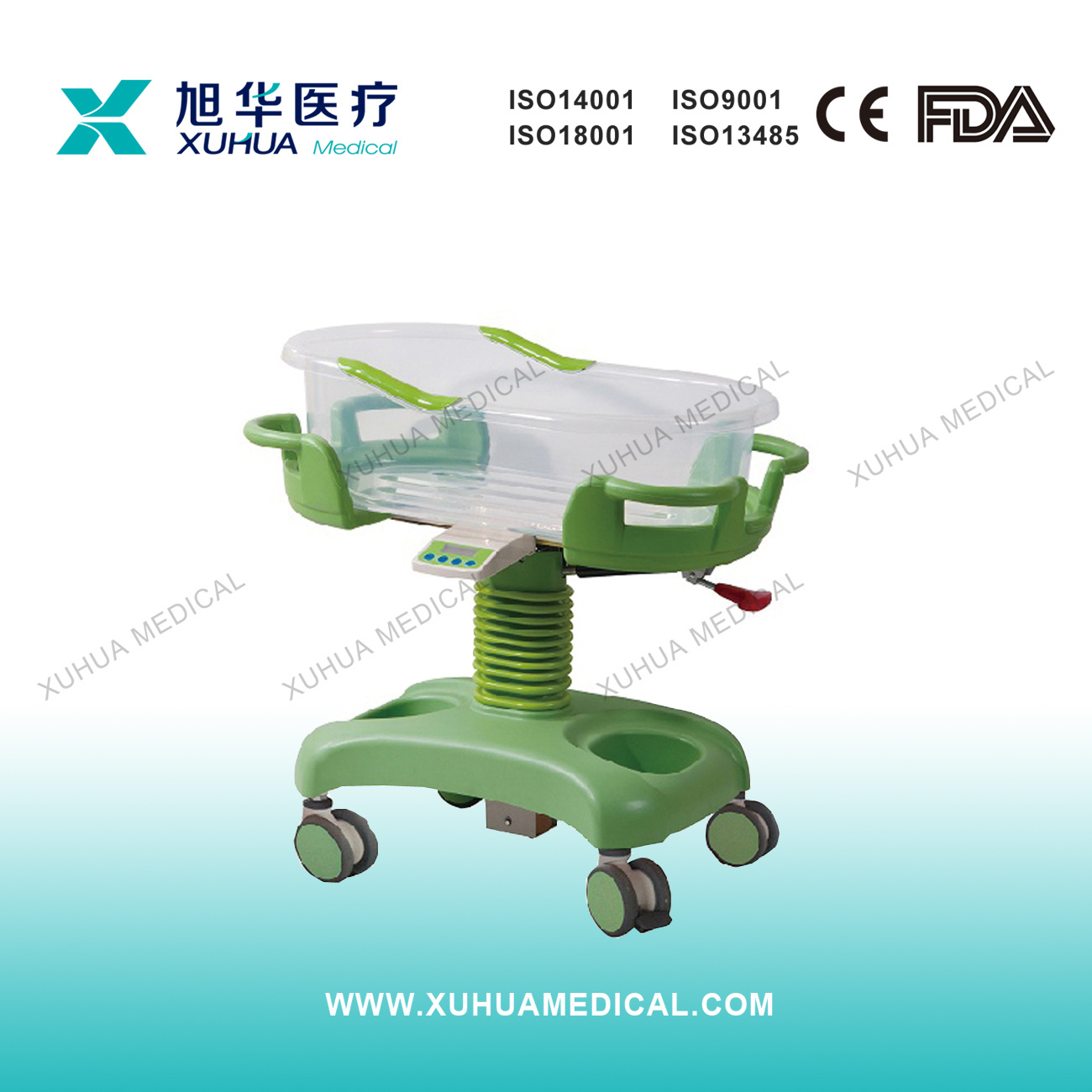 Hospital Infant Bed with Scale, Baby Crib (XHE10A)