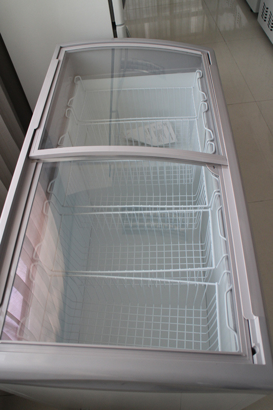 Display Glass Door Arch Chest Freezing Showcase