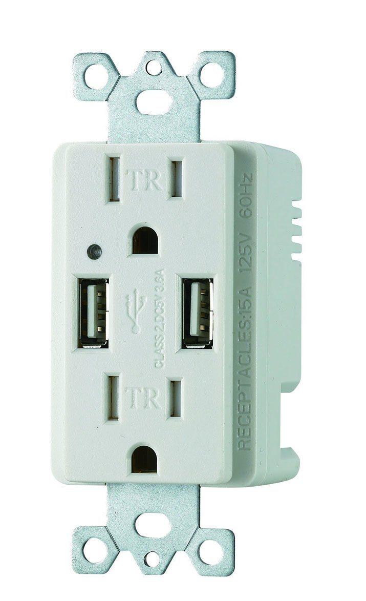 USB Receptalce with Two USB Ports UL/cUL