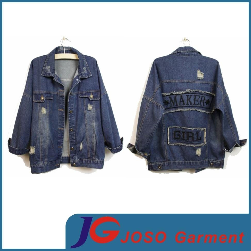 China Factory Women Denim Coat (JC4019)