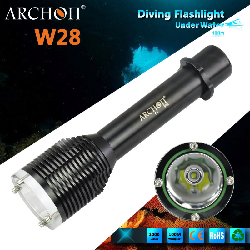 Archon W28 CREE Xm-L T6 LED Max 1000 Lumens Diving Flashlight