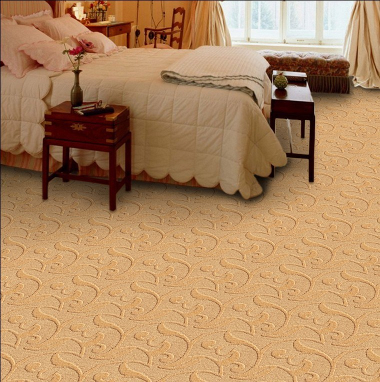 China high cut and low loop pile tufted pp jacquard wall for Wall to wall carpet cost