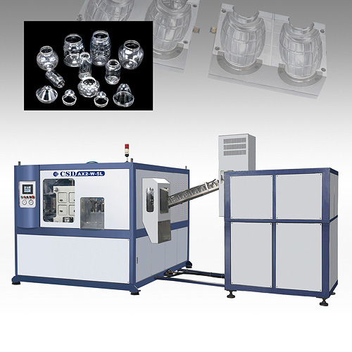 CE Approved with Ax Down Blow Series Automatic Blow Molding Machine (CSD-AX2-W-5L)
