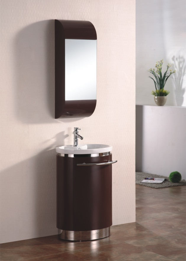 floor mounted small bathroom cabinet with one cup 9008 photos