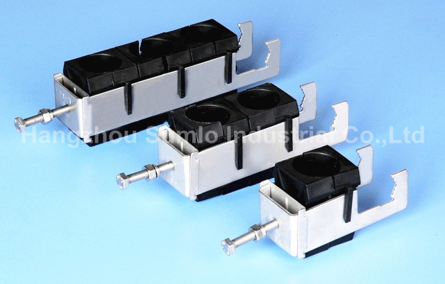 China self locking feeder clamp click on cable hangers