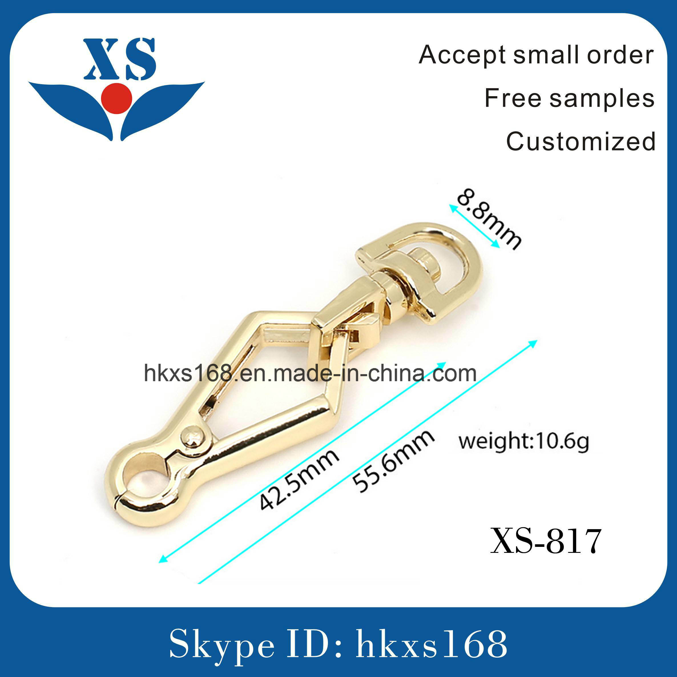Custom Metal Snap Hook for Handbag with Good Price