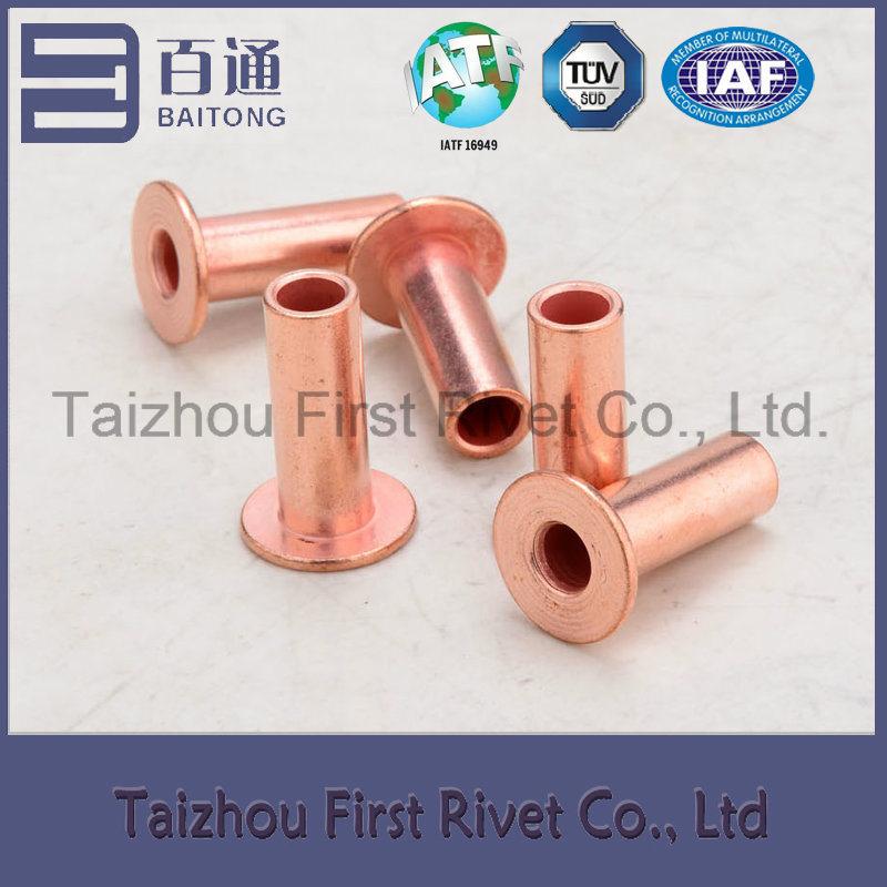 8X20mm Copper Plated Flat Head Full Tubular Steel Rivet