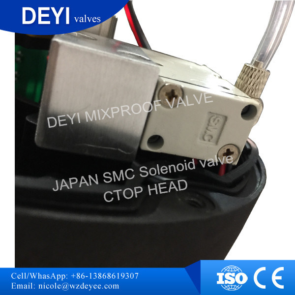 25.4mm Stainless Steel Sanitary Mixproof Valve with SMC Solenoid Valve