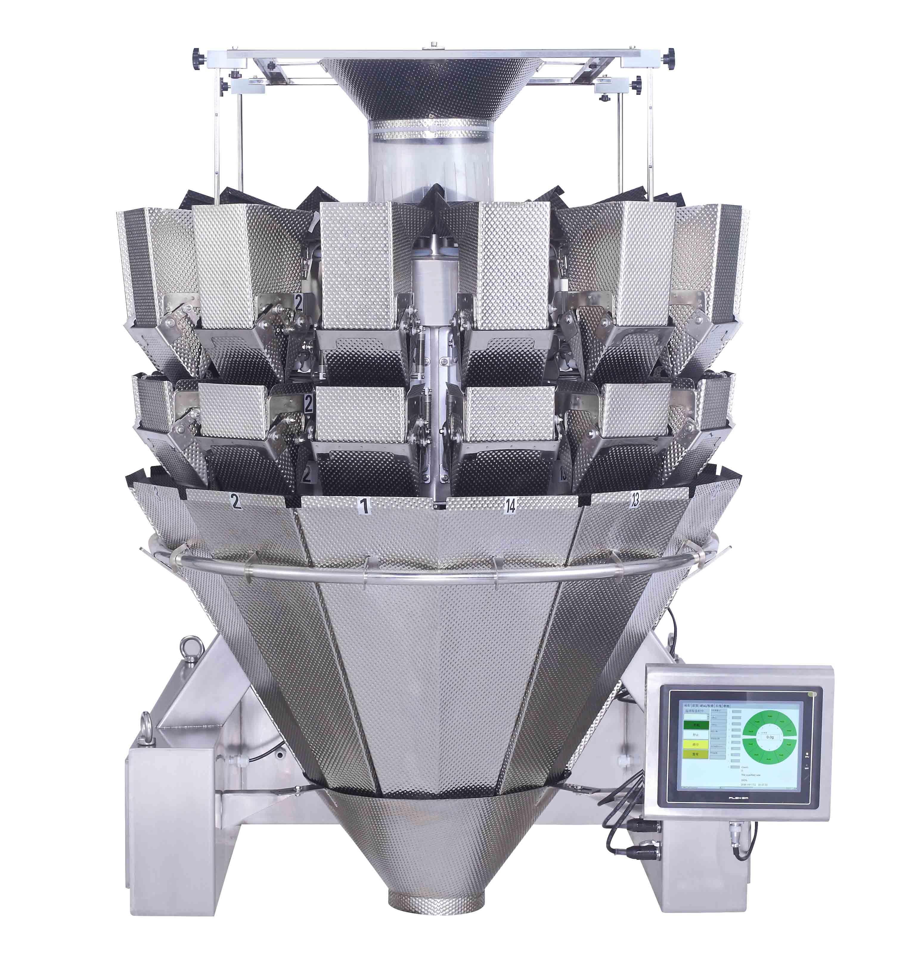 Frozen Foods Weighing Machine Multihead Weigher Jy-14hddt