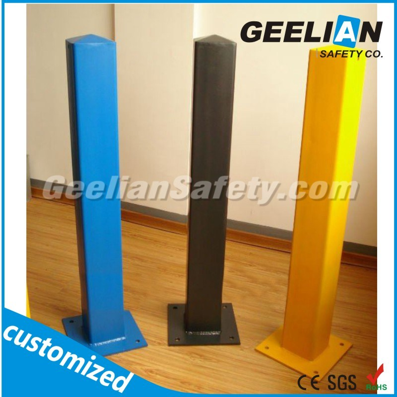 Yellow Steel Traffic Removable Bollards / Parking Bollard Barrier
