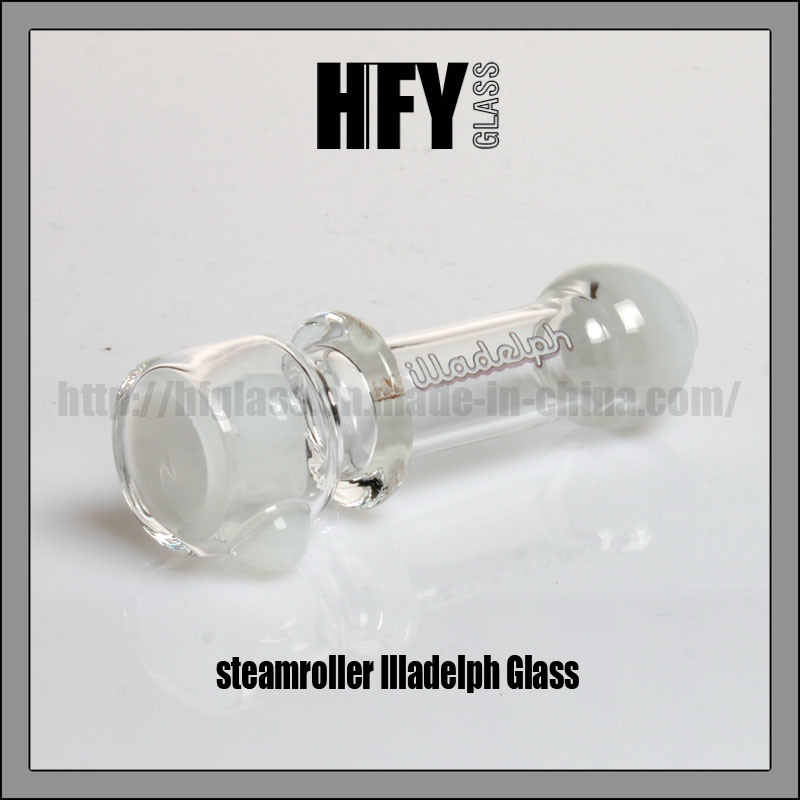 Hfy Glass Illadelph White Hand Pipe Smoking Pipes Tobacco Colorful Pocket Pipe Chillum Steamroller in Stock for Wholesales