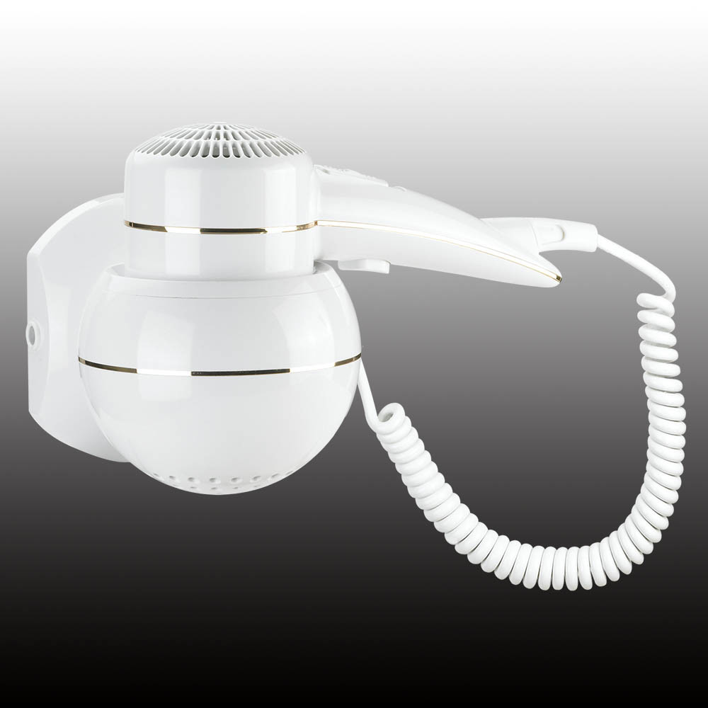 Newest White Home Appliance Wall Mounted Hair Dryer & Household & Hotel Bathroom Appliance