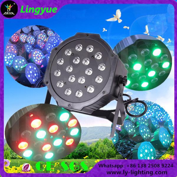Small Flat Mini Stage RGB 18X1w LED PAR Light