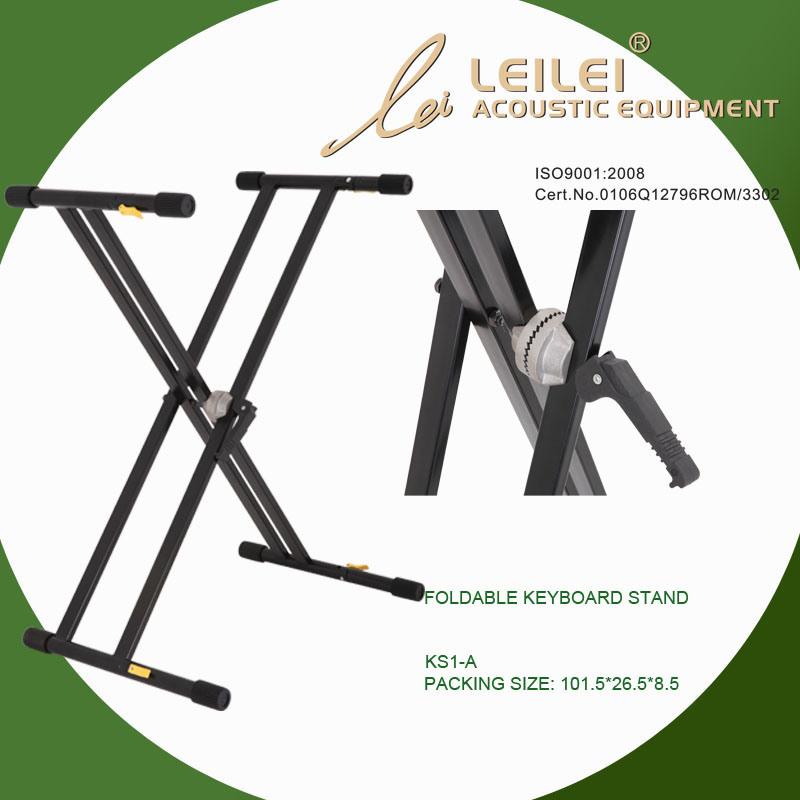 Heavy-Duty Double X Keyboard Stand (KS-1-A)