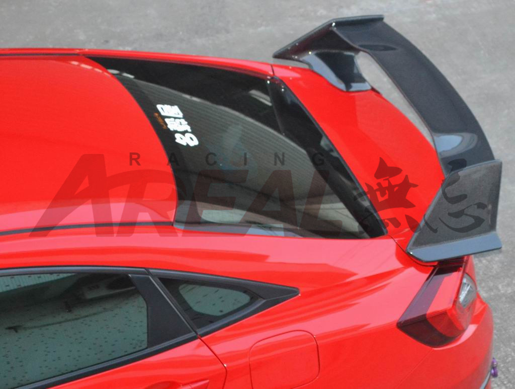 for Civic 10th 2016 R Spoiler Carbon Fiber