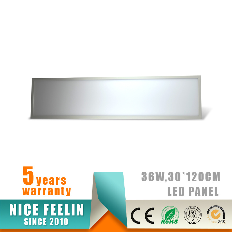 100lm/W 1200*300mm 36W LED Panel for Office Lighting
