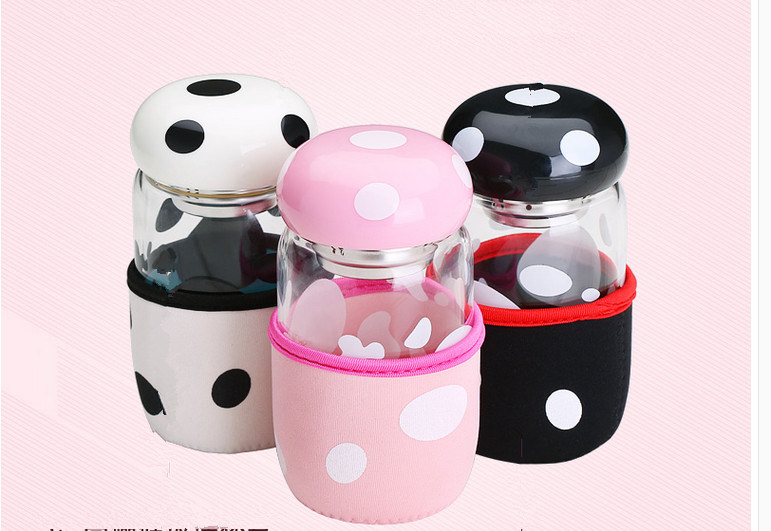 320ml The New Cartoon Type Lead-Free Glass Cup