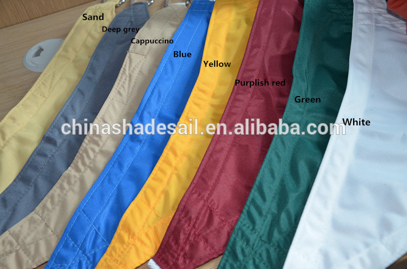 Waterproof Polyester Garden Sun Shade Sail for Sand Color and Beige Color (Manufacturer)