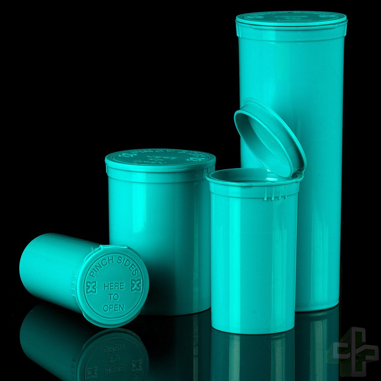 Aqua 30 DRAM Pop Top Containers - 160 PCS Per Case