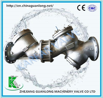 Buildin Strainer Safety Antifouling Atmospheric Vent Non Return Dual Check Valve