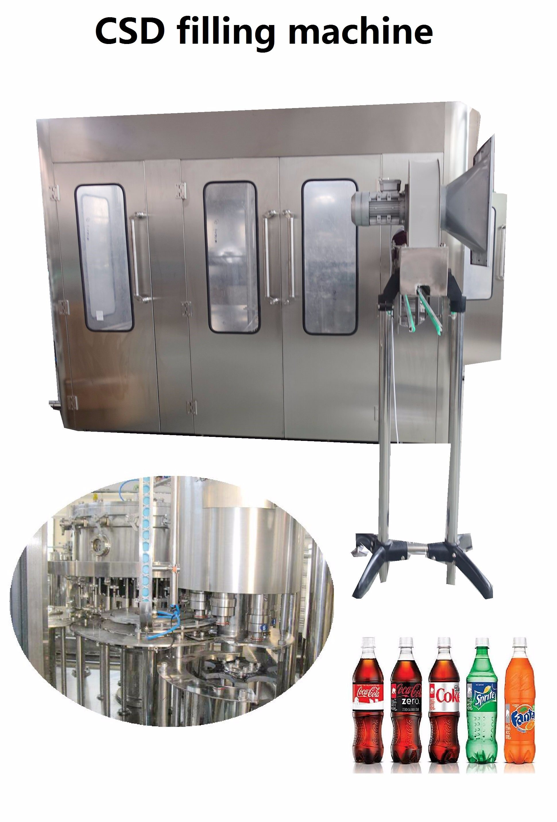 Complete Turn-Key Carbonated Beverage Soft Drink Bottle Filling Machine Machine Complete Production Line