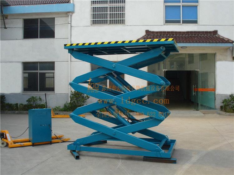 Warehouse Stationary Hydraulic Scissor Cargo Lift (SJG0.5-5)