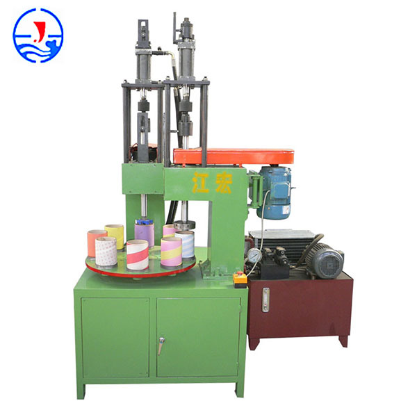 Automatic Paper Tube Vertical Hole-Digging & Head-Bending Machine