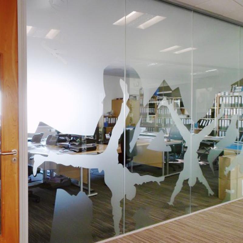 Custom Decorative Frost Window Film for Office Glass