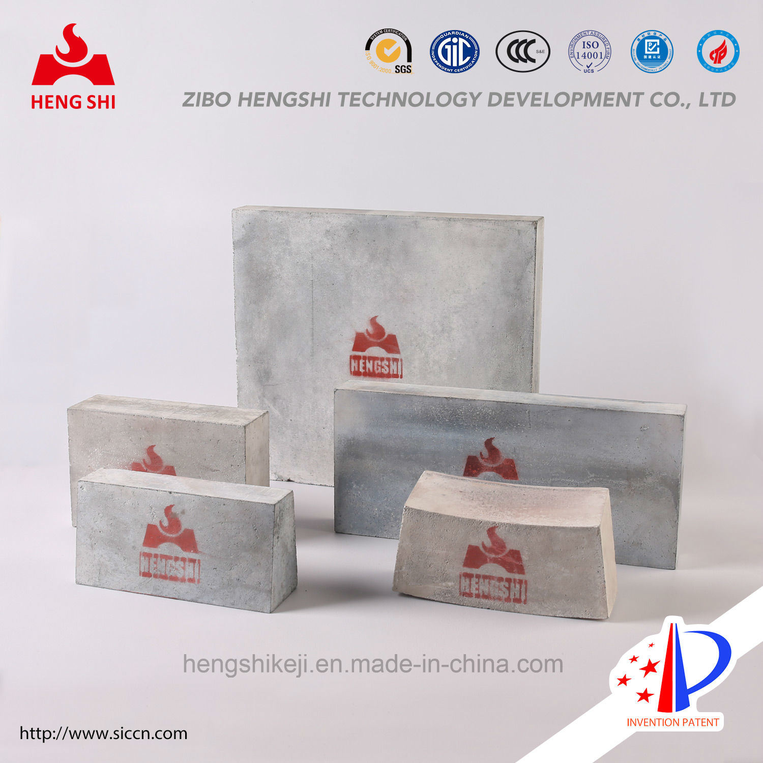 Silicon Nitride Bonded Silicon Carbide Brick Zg-380mm