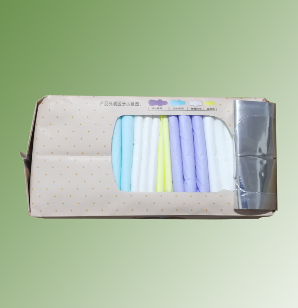 Maxi Size Colorful Indididual Wrap Sanitary Napkin for Menstrual Period