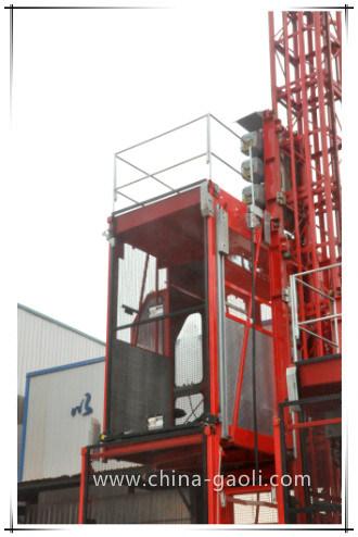 2017 High Safety Sc120/120 Vertical Construction Hoist Building Lifter